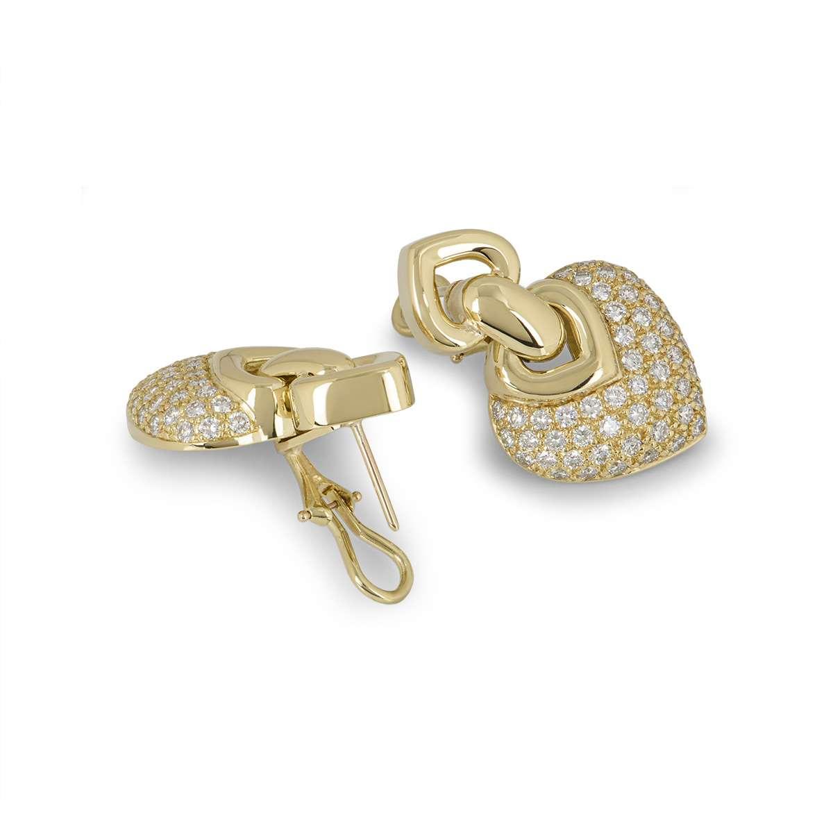 Yellow Gold Diamond Drop Earrings